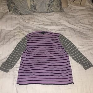 J Crew 100% cashmere striped sweater